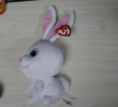 Soft Toy Secret Life Of Pets Snowball Ty Beanie Babies Baby Beanies Plush 6 inch