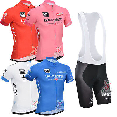 4 color Cycling Bike Short Sleeve Clothing Set Suit Jersey + Bib  Shorts S-3XL