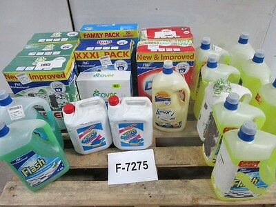 Job Lot 21 x Assorted Washing Powder Conditioner All Purpose Cleaner Etc..F-7275