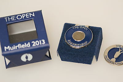The Open Muirfield 2013 Quality Boxed Metal Ball Marker & Hat Cap Shoe Clip New