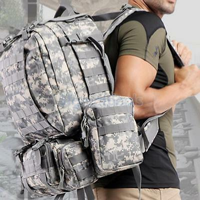 65L Molle Tactical Army Military Assault Backpack Rucksack Trekking Bag Pack