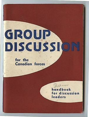 Old 1952 Booklet Group Discussion for the Canadian Forces