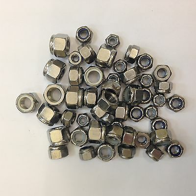 Unf A2 Stainless Steel Imperial Nyloc Nuts 10 Unf,1/4, 5/16, 3/8, 7/16, 1/2, 5/8