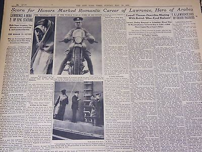 1935 May 19 New York Times - T. E. Lawrence Dies Of Crash Injuries - Nt 4912