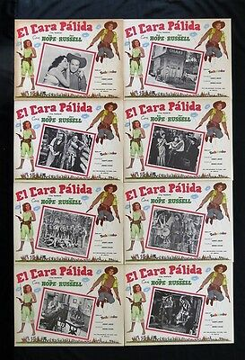 """""""the Paleface"""" Bob Hope Jane Russell Lobby Card Set Mexican 1948 N Mint"""