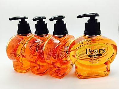 Pears 237 ml Mild soap Hand  liquid Wash  x4 -free royal mail tracked post