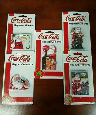 5 VINTAGE Coca Cola COKE Refrigerator Magnets NEW IN PACKAGE GREAT COLLECTIBLES