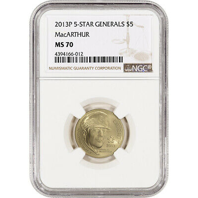 2013-P US Gold $5 5-Star Generals Commemorative BU - NGC MS70