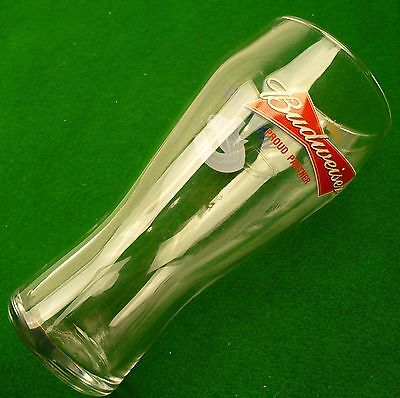 Budweiser beer Vancouver Canucks NHL hockey beer glass