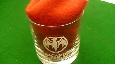 Bacardi distillery rum bat logo letters mixed drink cocktail  glass white only
