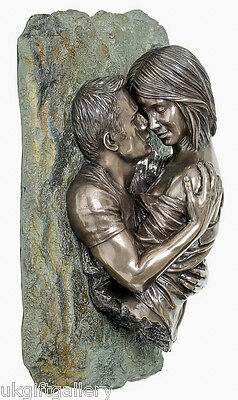 The Embrace - Stunning Contemporary Lovers Wall Art Sculpture by Genesis NEW