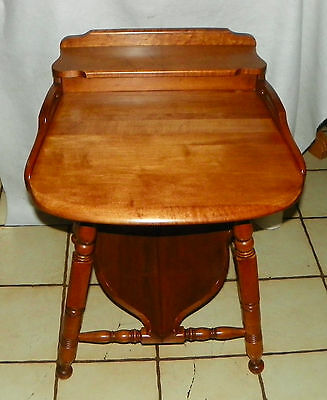 Solid Maple Bookshelf End Table Side By Sprague Carleton T285