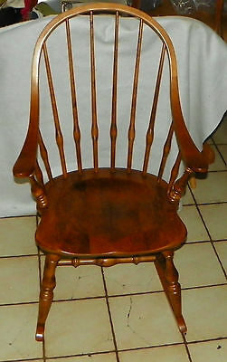 Solid Maple Windsor Rocker / Rocking Chair by Ethan Allen  (R215)