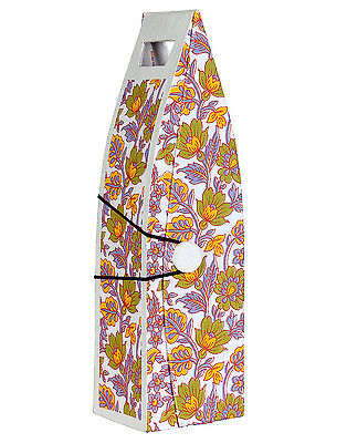 Indian Designer White Printed Handmade Paper & Cardboard Wine Bottle Holder