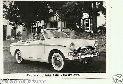 Hillman Minx Convertible c.1960 Original Rootes Press Photograph