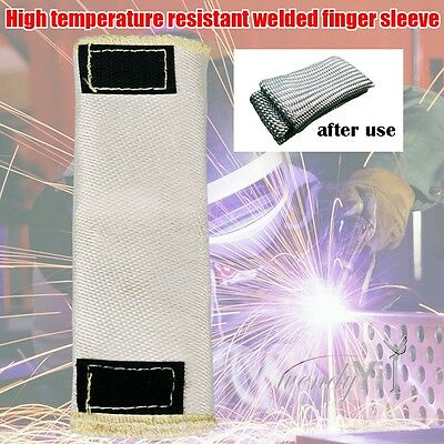 6'' Glass Fiber Finger Heat Shield Guard Protection For TIG Welding Glove
