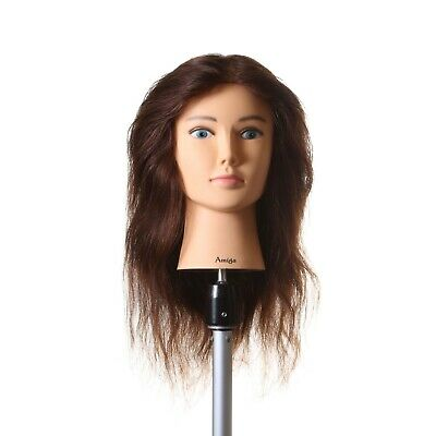 100% Real Hair MANNEQUIN HEAD Hairdresser Cut Color Training SydneySalonSupplies
