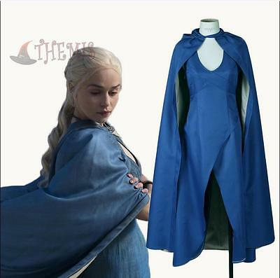 Game of Thrones Daenerys Targaryen Vestito Costume Donna Halloween Cosplay