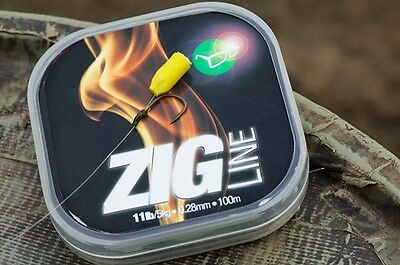 Korda NEW Carp Fishing Clear Zig Surface Line 100m *All Breaking Strains*
