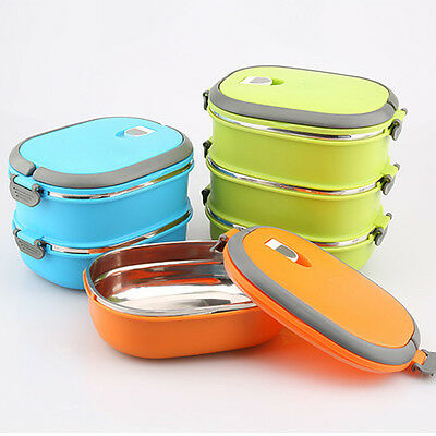 New 1/2/3 Layer Thermal Insulated Bento Stainless Steel Food Container Lunch Box