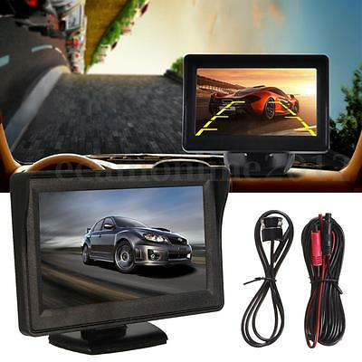 4.3'' LCD TFT Car Rearview Reverse Color Monitor Parking Backup Camera DVR Kit