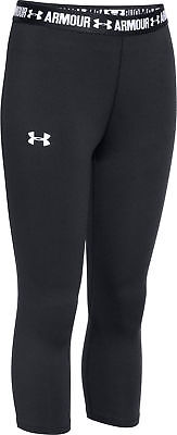 Under Armour HeatGear Junior 3/4 Capri Running Tights - Black