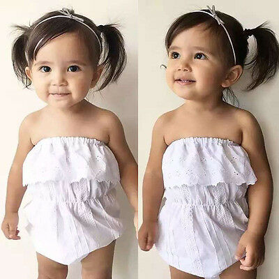 Newborn Toddler Kids Baby Girls Infant Casual Romper Jumpsuit Bodysuit Outfits