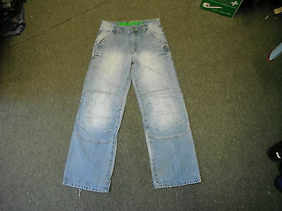 "Next Relaxed Jeans Waist 30"" Leg 29"" Faded Medium Blue Boys 13 Yrs Jeans"