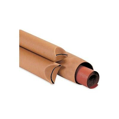 """Crimped End Mailing Tubes, 2""""x12"""", Kraft, 50/Case"""