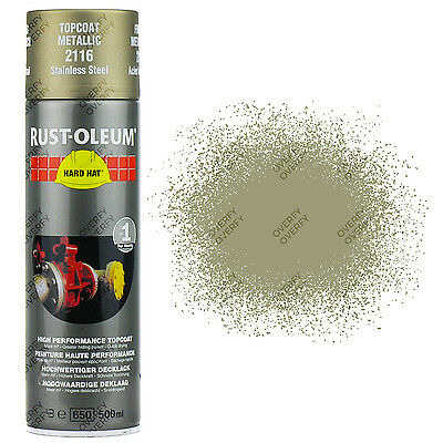 x1 Rust-Oleum Metallic Stainless Steel Silver Spray Paint Hard Hat 2116