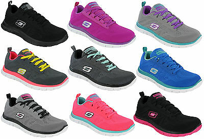 Skechers Flex Appeal Sweet Spot Memory Foam Womens Running Trainers 11729 UK3-8