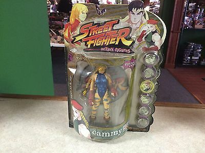 1999 Capcom Street Fighter II Round  One 1 Figure MOC - Blue Variant Cammy