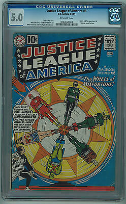 Justice League Of America #6 Cgc 5.0 Off-White Pages Silver Age