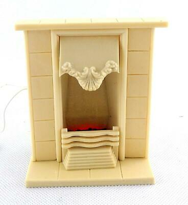 Dolls House Elegant Edwardian Artisan Bedroom Fireplace  with Light up Coal Fire