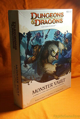 Dungeons & Dragons Essentials D&D 4th Edition Monster Vault Unpunched Complete