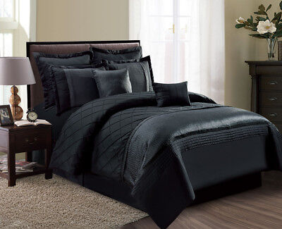 12 Piece Fiona Black Bed in a Bag Set