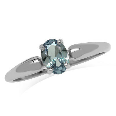 Simulated Alexandrite 925 Sterling Silver Solitaire Promise Ring