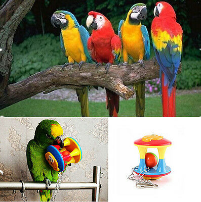 Parrot Chew Ball Colorful Pet Bird Bites Toy Cage Hanging For Parakeet Toy