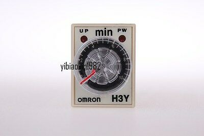 H3Y-2 DC 24V 0-10 Minute 10m Timer Power On Delay Time Relay 8 Pin +Socket base