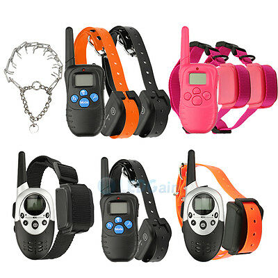 Electric Waterproof Remote  Dog Shock Training Collar Rechargeable 1-2 dog
