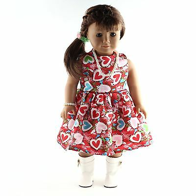 Fashion Handmade New  clothes dress for 18inch American girl doll party  b577