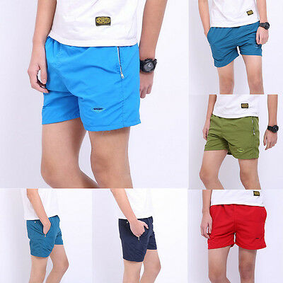 Fashion Men Basic Cotton Beach Short Pants Casual Sport Shorts Running Trousers