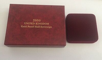 Royal Mint Gold Proof Half Sovereign 2000 Box Only Storage