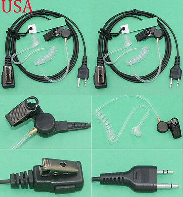 B56A Midland AVPH3 Transparent Security Headsets earphone with PTT//VOX Pair hot