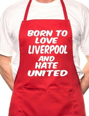Love Liverpool Hate Man Utd Football BBQ Cooking Funny Novelty Apron