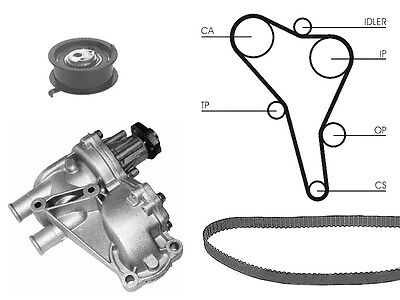 Water Pump And Timing Cam Belt Kit Replacement For VW Transporter Mk4 1.9 Td D