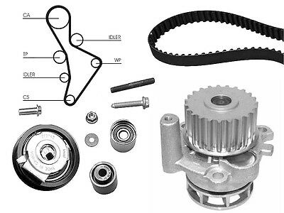 Water Pump And Timing Cam Belt Kit Replacement For Audi Tt Roadster 2.0 Tfsi