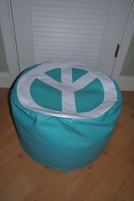 Child's Vinyl BEAN BAG CHAIR with Peace Sign