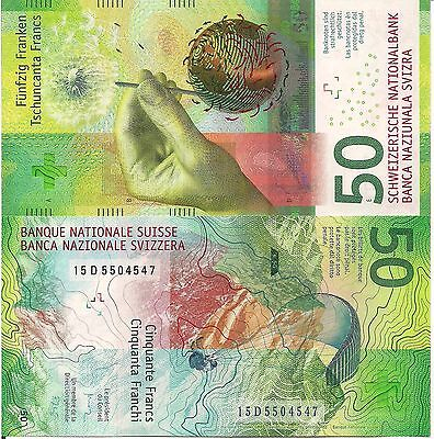 SWITZERLAND 50 Francs Banknote World Paper Money UNC Currency 2016 BILL Note