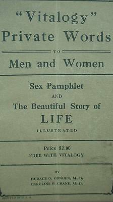 Vitalogy Private Words Men & Women Sex Pamphlet & Beautiful Story of Life 1920s
